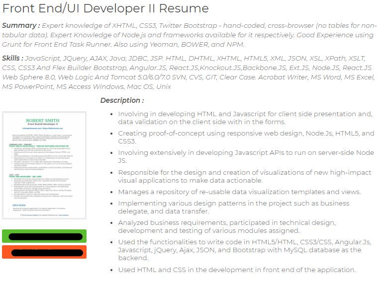 angularjs with react js cv outline