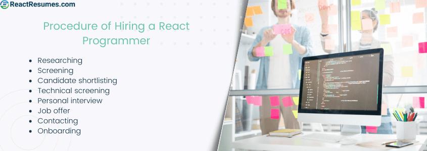 hiring react programmer procedure