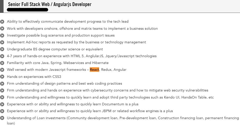 senior fullstackangularjs developer cv sample