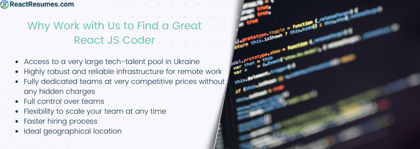 why work with us to hire certified react programmer